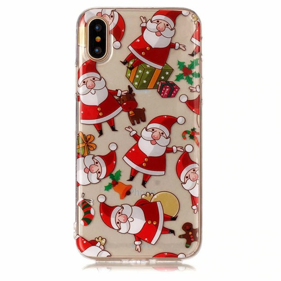 Accessories - NEW iPhone X/XS Falling Santas Case